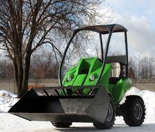 Green Excavator Royalty Free Stock Photos