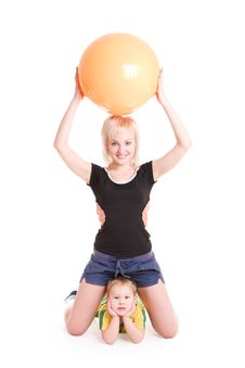 Free Mother And Small Son Going In For Sports Stock Photos - 4527683