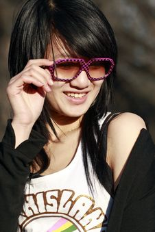 Free An Oriental Girl Stock Photography - 4528162