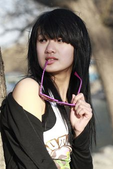 Free An Oriental Girl Stock Photos - 4528273