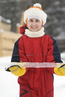 Free Girl With Ice Stock Image - 4528921