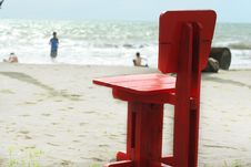 Free Single Chair On The Beach Stock Image - 4529591