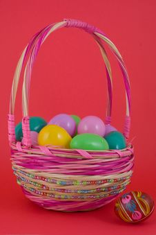 Free Basket Of Easter Eggs Royalty Free Stock Image - 4529656