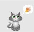 Free Gray Kitten Stock Photography - 45203292