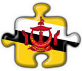 Free Brunei Button Flag Puzzle Shape Royalty Free Stock Photos - 4530988