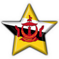 Free Brunei Button Flag Star Shape Royalty Free Stock Images - 4530989