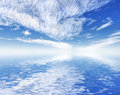 Free Beautiful Ocean Sea View With Sky Reflection. Royalty Free Stock Images - 4533989