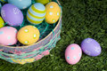 Free Easter Eggs In Basket Royalty Free Stock Photography - 4534697