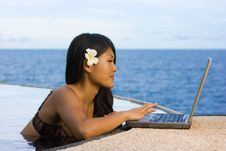 Free Work Anywhere In Paradise Stock Image - 4530161