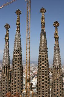 Free The Spires Of Sagrada Familia, Spain Royalty Free Stock Photo - 4530855