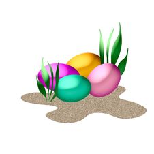 Free Easter Eggs Royalty Free Stock Photo - 4532095