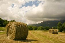Free Haystacks Under A Moody Sky Royalty Free Stock Image - 4532166