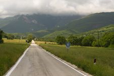 Free Road Into The Stormy Mountain Stock Photos - 4532173