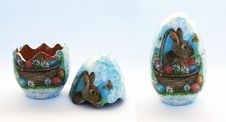 Free An Easter Clay Egg With A Rabbit Decoupage Royalty Free Stock Image - 4532406