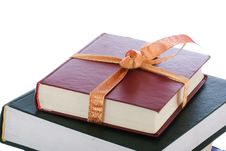 Free Books In Gift Packing Isolated On A White Royalty Free Stock Photography - 4532667