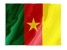 Free Cameroon Fluttering Royalty Free Stock Photo - 4532675