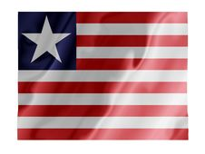 Free Liberia Fluttering Stock Image - 4532681