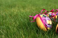 Free Easter Eggs In Meadow Royalty Free Stock Photos - 4532778