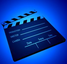 Free Film Clapper Royalty Free Stock Photos - 4533348
