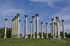 Capital Columns Royalty Free Stock Photos
