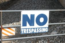 Free No Trespassing Stock Photo - 4533970