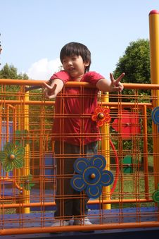 Boy At The Park Royalty Free Stock Image