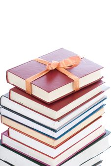 Free Books In Gift Packing Isolated On A White Stock Photos - 4534923