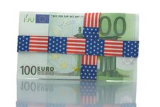 Free Wrapped Hundred Euro Bill Stock Images - 4535544