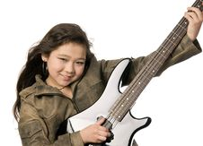 Free Girl With Guitar. Stock Photo - 4535920