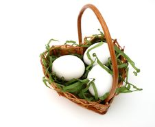 Free Eggs In A Basket Stock Photos - 4536513