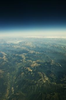 Free Rockies From The Sky Stock Photography - 4536552