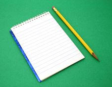 Free Pencil And Open Notebook Royalty Free Stock Photo - 4537135