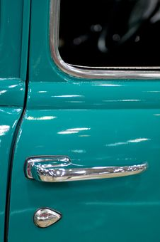 Green Pickup Truck Door Royalty Free Stock Photos