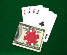 Free Aces And Money Stock Images - 4537494