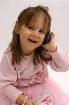 Free On The Phone Stock Photography - 4537652