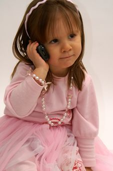Free On The Phone Royalty Free Stock Photos - 4537708