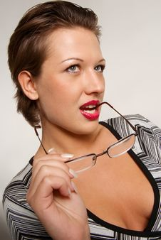 Free Pretty Girl With Eyeglasses Royalty Free Stock Photos - 4538498