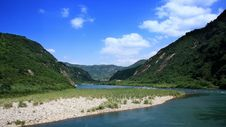 Cross Beautiful Yangjia Stream Stock Photo
