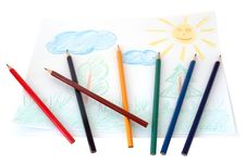 Free Child S Drawing. Royalty Free Stock Photo - 4538975