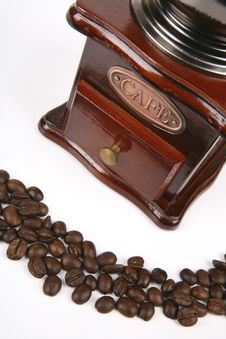 Free Coffee Beans With Grinder Stock Photo - 4539100