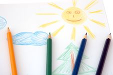 Free Child S Drawing. Royalty Free Stock Photo - 4539195