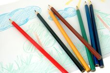 Free Child S Drawing. Royalty Free Stock Image - 4539256