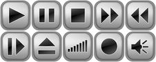 Set Of Buttons For Music Player Stock Images