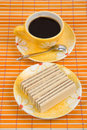 Free Waffle Slice And Coffee Royalty Free Stock Photo - 4542745
