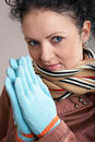 Free A Nice Girl In Blue Gloves Stock Photos - 4548483