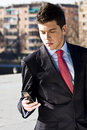 Free Businessman At Phone Stock Photography - 4549892