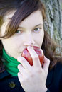 Free Young Woman And Red Apple Royalty Free Stock Photos - 4549988