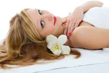 Free Attractive Woman Getting Spa Treatmen Stock Image - 4540081