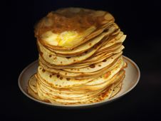 Free Breakfast Pancakes And Butter Stock Photos - 4540373