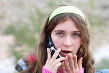 Free Young Girl And Cellphone Royalty Free Stock Photos - 4540478